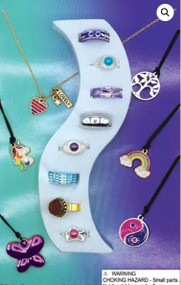 """500 pieces Jewelry and Ring Mix in 1.1"""" Capsules with Free Display and Shipping"""