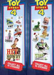 Toy Story 4 Stickers in Sleeves for Vending Machines 300 Stickers