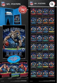 NFL Posters Qty 300 in vending sleeves Less than 10 cents each!!!!