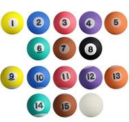 "Pool Ball High Bounce Super Balls  -1"" -  25mm, 250 count"