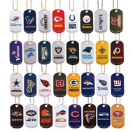 """NFL Metal Dog Tags Necklaces and Keychains 250 2"""" capsules"""