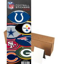 NFL Footbal Oval Stickers 300 per Box