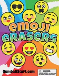 """Emoji Face Erasers 250 1.1"""" Acorn Capsules"""