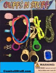 "Jewelry Rings Bracelets Mix 1"" Acorn Vending gumball Machine 250 Toy Capsules"