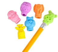 """Zoo Animal Pencil Top Erasers 250 pieces in 1.1"""" capsules"""