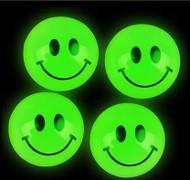 "Glow in the Dark Smile Emoji Super Balls Approximately 1"" - 144 per Bag"