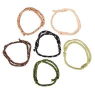 Camouflage Friendship Rope Bracelets 144 per bag