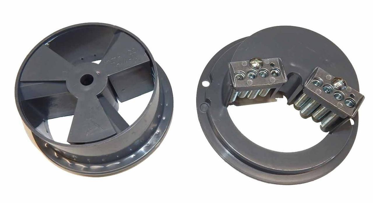 """Gumball Machine Vending Wheel Dispenser Set Oak A/&A Beaver Astro  1/"""" gumballs"""