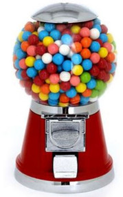 """Bubble Globe Gumball/Candy Machine  with Choice of Candy, Gumballs, 1"""" Toys or Balls"""