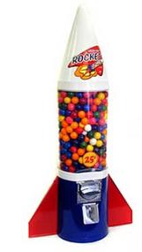 Retro Rocket Gumball Machine