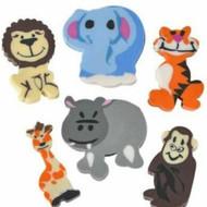 Zoo animal erasers, 144 pieces