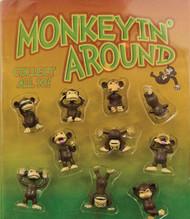 """Tiny Funny Posing Monkeys in 2"""" Capsules 250 per case"""