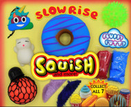 """Slow Rise Squish and Toy Mix 250 pcs in 2"""" Capsules with Display"""
