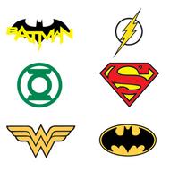 """250 DC Justice League Tattoos 1"""" Capsules"""