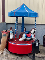 Coin Operated Carousel Kiddie Ride Amusement Ride Merry Go Round Horse
