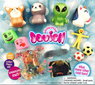 """Newest Squish and Toy Mix 250 filled 2"""" Capsules with FREE display"""