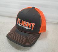 Flight Fab Grey/ Orange Snapback Hat