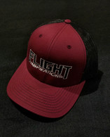 Flight Fab Cardinal Red/ Black Snapback Hat