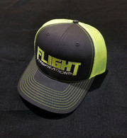 Flight Fab Grey/ Neon Yellow Snapback Hat