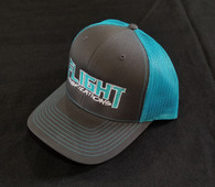 Flight Fab Grey/ Neon Blue Snapback Hat