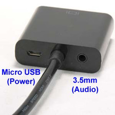 back of the vga side of a hdmi to vga converter