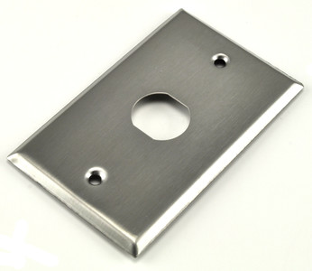 1 hole, 1 gang stainless steel industrial wall plate
