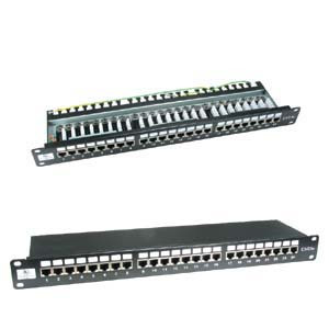 24 Port CAT6 Shielded Patch Panel
