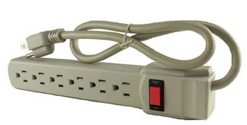 Surge Protector, 3', 6 Outlet