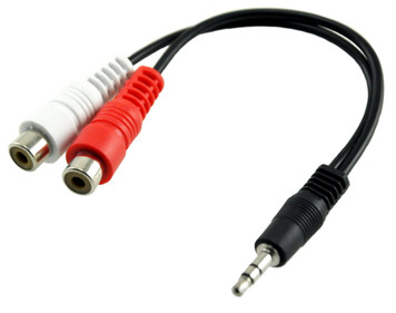 3.5mm male to 2x rca female adapter