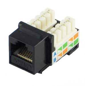 Cat5e Keystone Jack Black