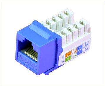Blue Cat5e Keystone Jack