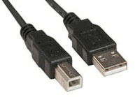 6' USB Cable A-B Black