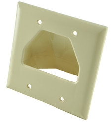 Ivory Dual Gang Bull Nose Wall Plate