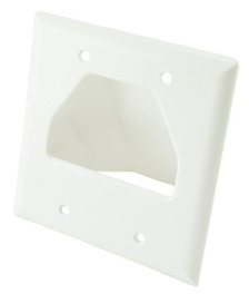 White Dual Gang Bull Nose Wall Plate