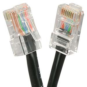 1' Black Cat5e Patch Cable