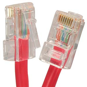 1' Red Cat5e Patch Cable