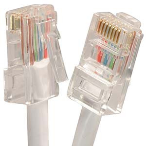 1' White Cat5e Patch Cable