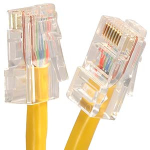 2' Yellow Cat5e Patch Cable