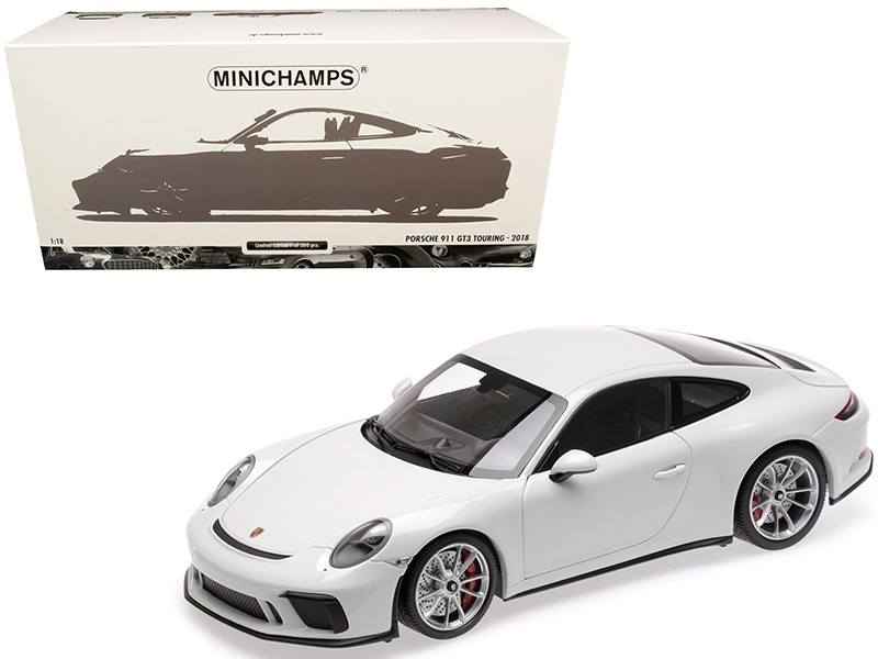 2018 Porsche 911 GT3 Touring White Limited Edition 300 pieces Worldwide 1/18 Diecast Model Car Minichamps 110067421