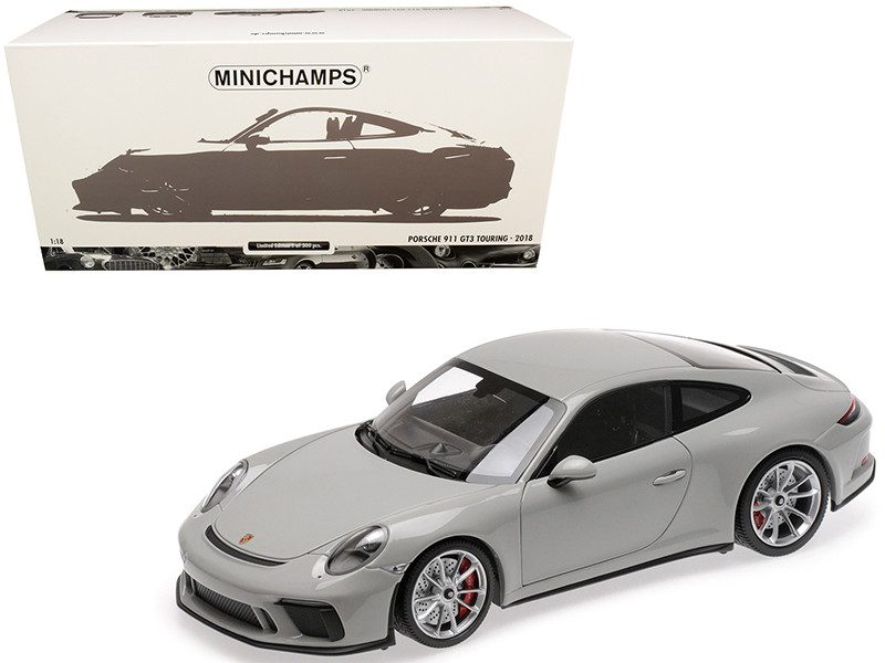 2018 Porsche 911 GT3 Touring Chalk Gray Limited Edition 300 pieces Worldwide 1/18 Diecast Model Car Minichamps 110067424