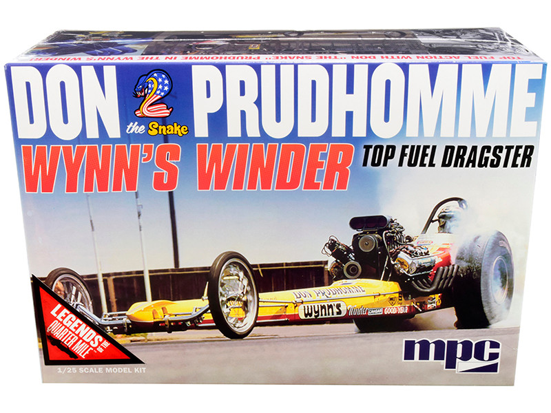 Skill 2 Model Kit Don Snake Prudhomme Wynn's Winder TFD Top Fuel Dragster Legends of the Quarter Mile 1/25 Scale Model MPC MPC921