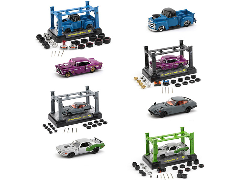 Model Kit 4 piece Car Set Release 28 1/64 Diecast Model Cars M2 Machines 37000-28