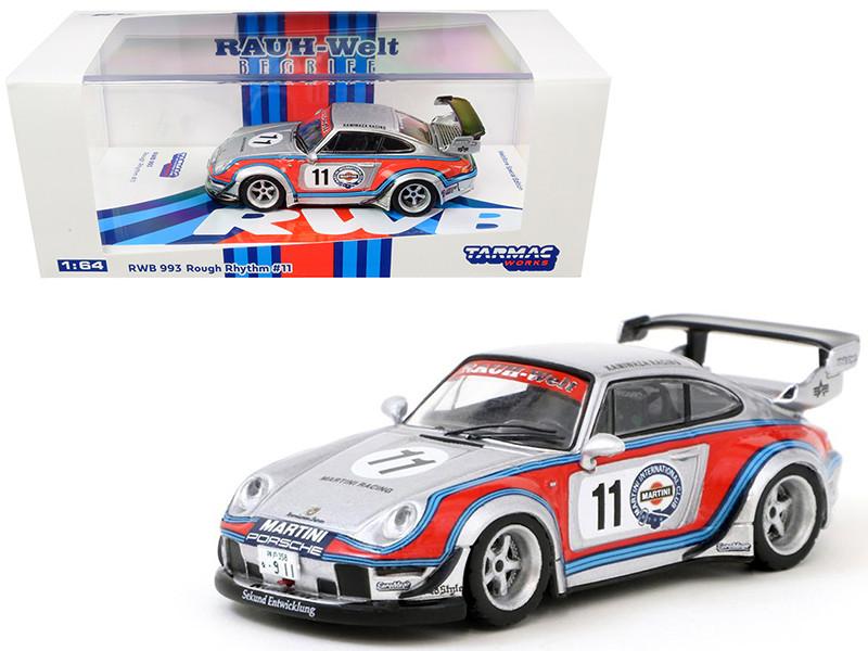 Porsche RWB 993 #11 Rough Rhythm Martini International Club Kamiwaza Racing WebStore Special Edition RAUH-Welt BEGRIFF 1/64 Diecast Model Car Tarmac Works T64-017-MA