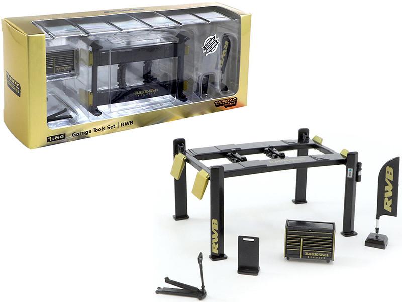 RWB Garage Tools Set of 5 pieces Stickers RAUH-Welt BEGRIFF for 1/64 Model Cars Tarmac Works T64A-001-RWB