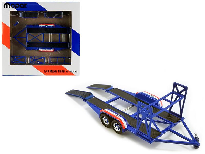 Tandem Car Trailer Tire Rack Blue Mopar 1/43 Scale Model Cars GMP 14310