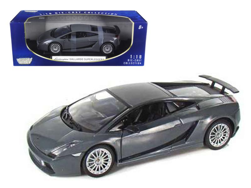 Lamborghini Gallardo Superleggera Grey 1/18 Diecast Model Car Motormax 73181