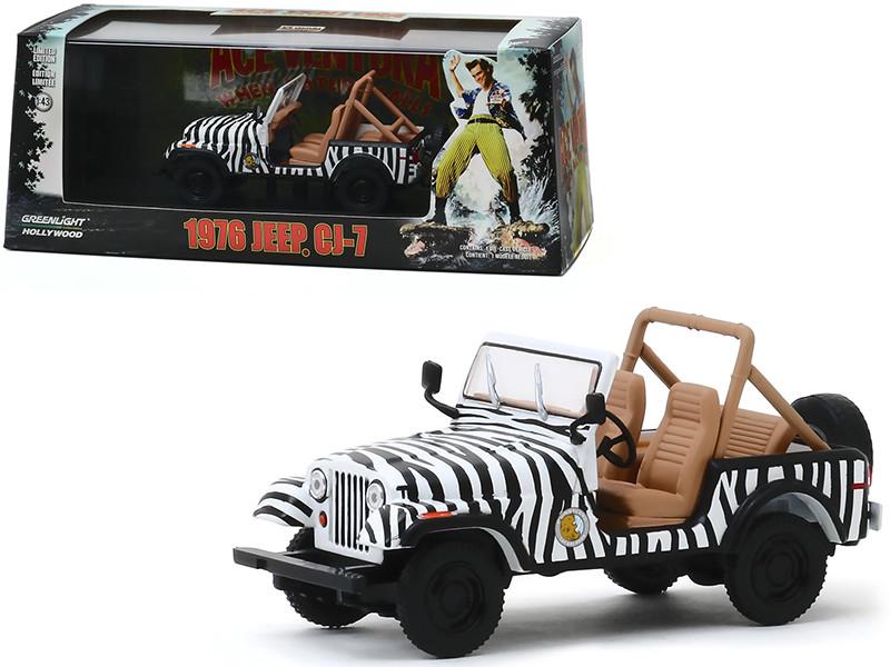 1976 Jeep CJ-7 Ace Ventura When Nature Calls 1995 Movie 1/43 Diecast Model Car Greenlight 86574