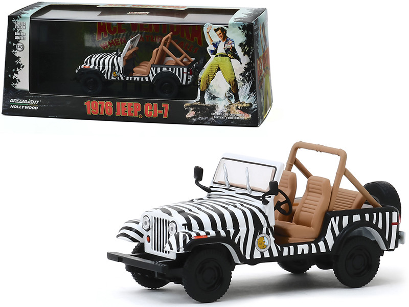 1976 Jeep CJ-7 Ace Ventura When Nature Calls 1995 Movie 1/43 Diecast Model Car Greenlight 86574