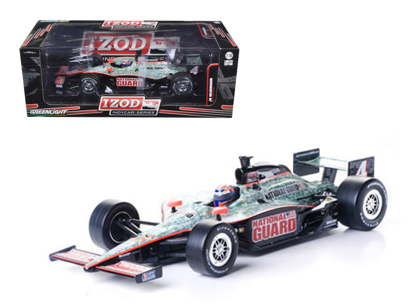 "2011 Izod Indy Car J.Hildebrand Jr. #4 Panther Racing ""National Guard"" 1/18 Diecast Model Car Greenlight 10900"