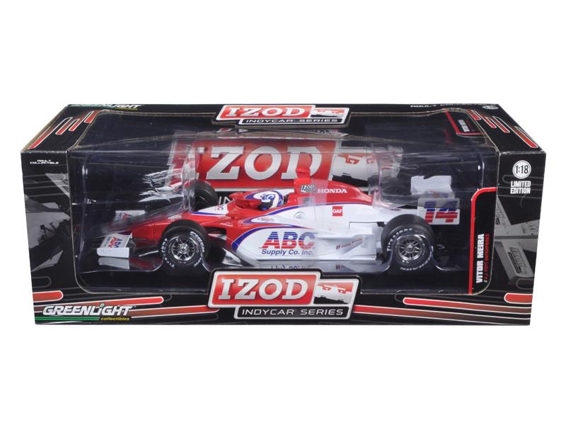 2011 Izod Indy Car #14 Vitor Meira A.J. Foyt Racing 1 of 1008 Produced Worldwide 1/18 Diecast Model Car Greenlight 10902